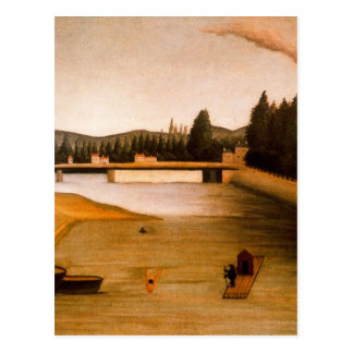 Baño en Alfortville de Henri Rousseau Postales