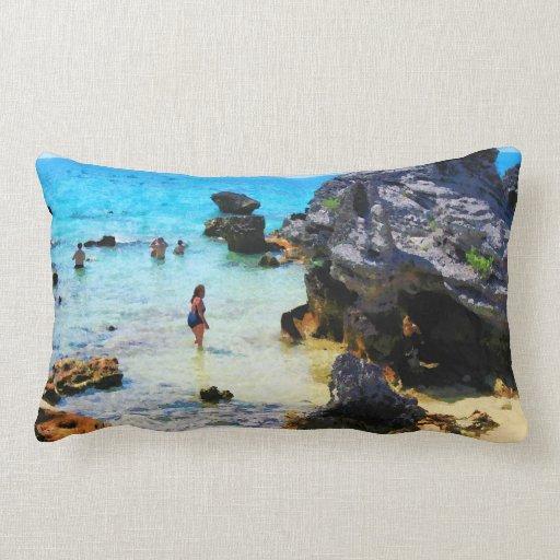 Baño en el océano San Jorge Bermudas Cojin