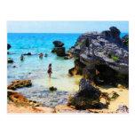 Baño en el océano San Jorge Bermudas Postales