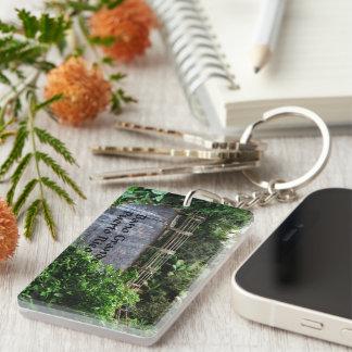 Bano Grande Double-Sided Rectangular Acrylic Keychain