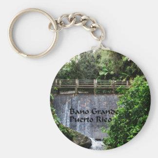 Bano Grande Puerto Rico Basic Round Button Keychain