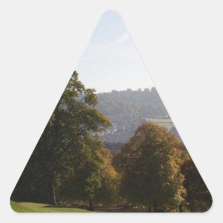 Baño Inglaterra del parque de Victoria Pegatina Triangular