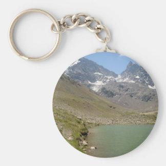 Bano Morales at el Morado with Pond Basic Round Button Keychain