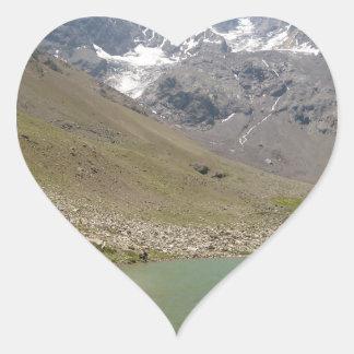 Bano Morales at el Morado with Pond Heart Sticker