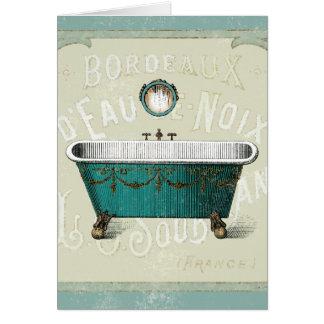 Baño parisiense del vintage felicitación