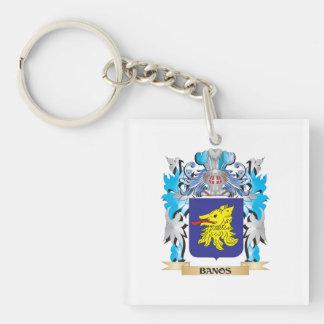 Banos Coat of Arms Single-Sided Square Acrylic Keychain