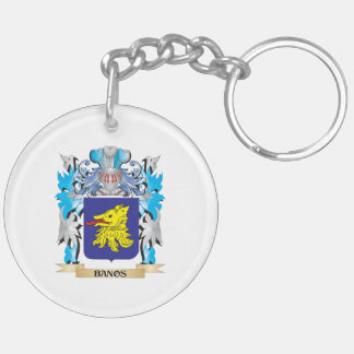 Banos Coat of Arms Double-Sided Round Acrylic Keychain