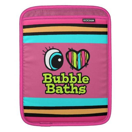 Baños de burbujas brillantes del amor del corazón  mangas de iPad