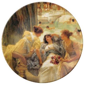 Baños de Caracalla de Lawrence Alma-Tadema Platos De Cerámica