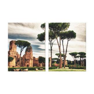 Baños de Caracalla - la lona envuelta Roma Impresion En Lona
