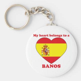 Banos Basic Round Button Keychain