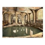 Baños y abadía romanos, baño circular, baño, Engla Tarjetas Postales