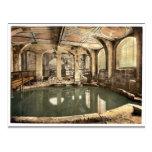 Baños y abadía romanos, baño circular, baño, Engla Tarjeta Postal