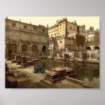 Baños y abadía romanos, baño, foto de la obra clás impresiones