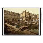 Baños y abadía romanos, baño, foto de la obra clás felicitación