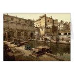 Baños y abadía romanos, baño, foto de la obra clás felicitaciones