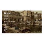Baños y abadía romanos, baño, foto de la obra clás tarjetas de visita