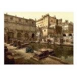 Baños y abadía romanos, baño, foto de la obra clás tarjetas postales