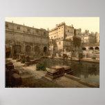 Baños y abadía romanos I, baño, Somerset, Inglater Poster