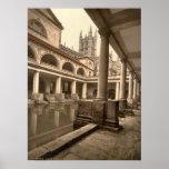 Baños y abadía romanos III, baño, Somerset, Inglat Poster