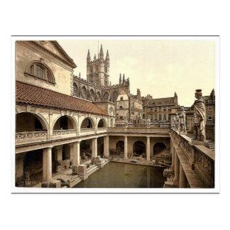 Baños y abadía romanos, IV, baño, Inglaterra P Tarjetas Postales