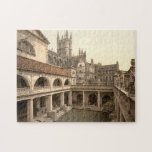 Baños y abadía romanos, IV, baño, Inglaterra Puzzle
