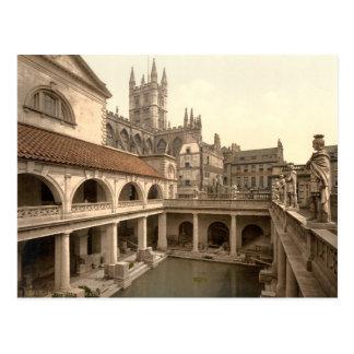 Baños y abadía romanos IV baño Somerset Inglate Tarjetas Postales