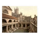 Baños y abadía romanos IV, baño, Somerset, Postal
