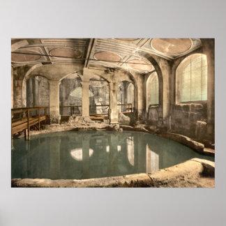 Baños y abadía romanos V, baño, Somerset, Inglater Póster