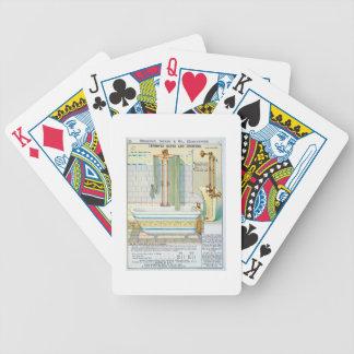 Baños y duchas mejorados de un catálogo del san baraja cartas de poker