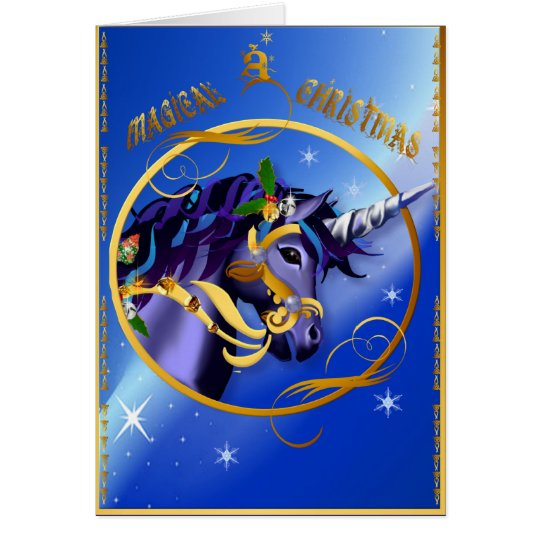 BAnother Magical Christmas Unicorn Face Card