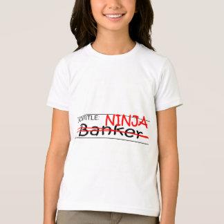 Banquero de Ninja del cargo Remeras
