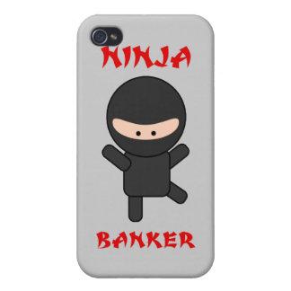 Banquero de Ninja iPhone 4 Fundas