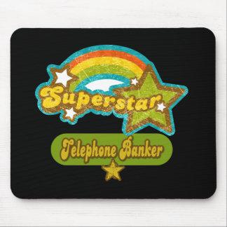 Banquero del teléfono de la superestrella mousepad