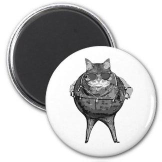 Banquero gordo del gato imán redondo 5 cm