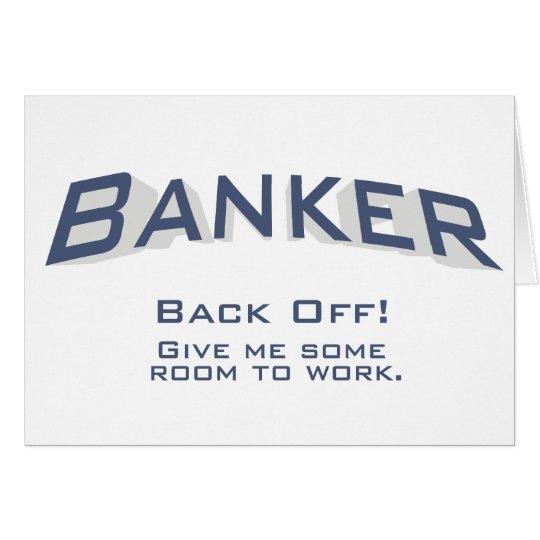 Banquero - trabajo tarjeta de felicitación