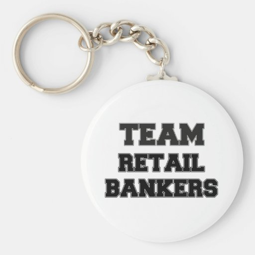 Banqueros al por menor del equipo llavero personalizado