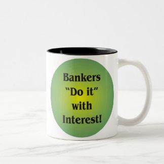 Banqueros Taza De Dos Tonos