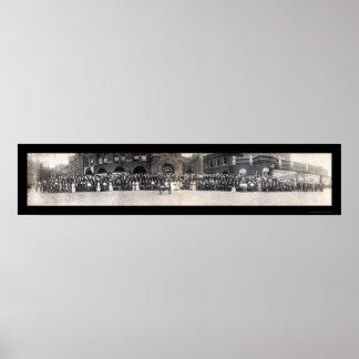 Banqueros y foto 1906 de Budweiser Poster