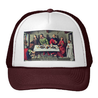 Banquet At The House Of Simon By Bouts Dieric Trucker Hat