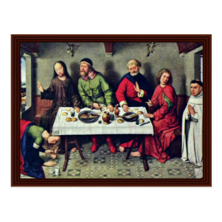 Banquet At The House Of Simon By Bouts Dieric Postcard