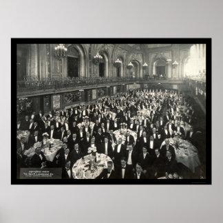 Banquet Chicago Photo 1908 Poster