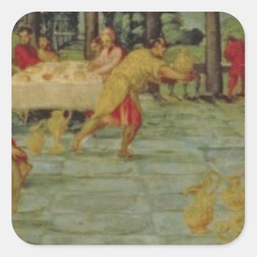 Banquet de rey Belshazzar, c.1543/44 Colcomanias Cuadradases