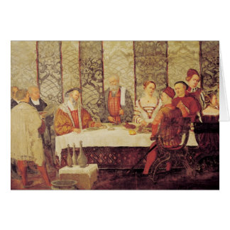 Banquet Given by Bartolomeo Colleoni Greeting Card
