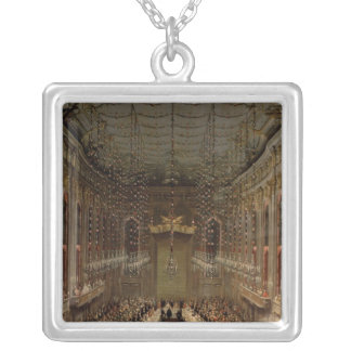 Banquet in the Redoutensaal, Vienna, 1760 Silver Plated Necklace