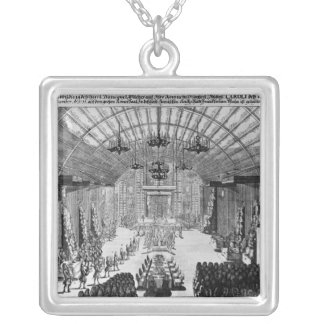 Banquet in the Romer Hall at Frankfurt-am-Main Silver Plated Necklace