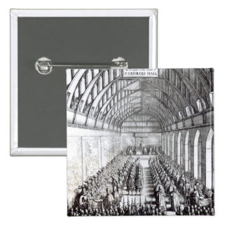 Banquet of Charles II  in St. George's Hall 2 Inch Square Button