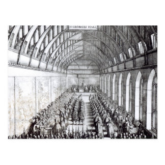 Banquet of Charles II  in St. George's Hall Postcard