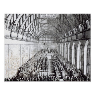 Banquet of Charles II  in St. George's Hall Poster