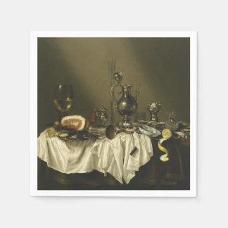 Banquet Piece with Ham by Willem Claesz Heda Napkin
